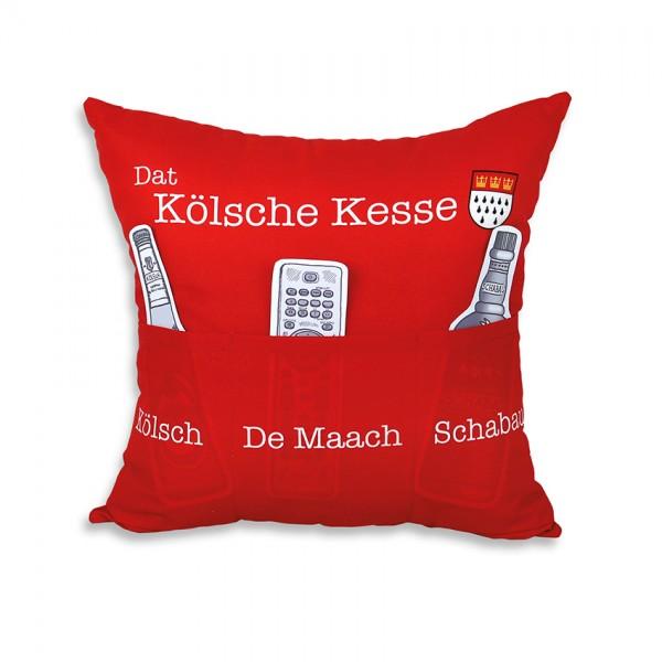 Hergo Sofahelden Kissen mit Taschen 43x43cm - Kölner Kissen 8816