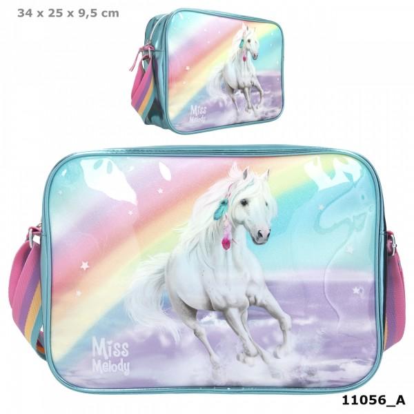 Depesche 11056 weißes Pferd Miss Melody Umhängetasche RAINBOW Regenbogen